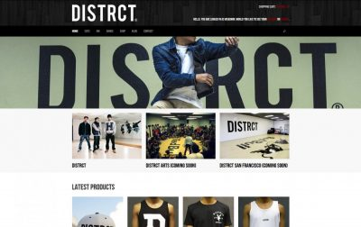 Image for The Distrct Website Design